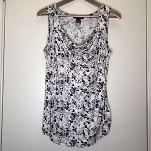 White House Black Market Multicolor Tank Top Large